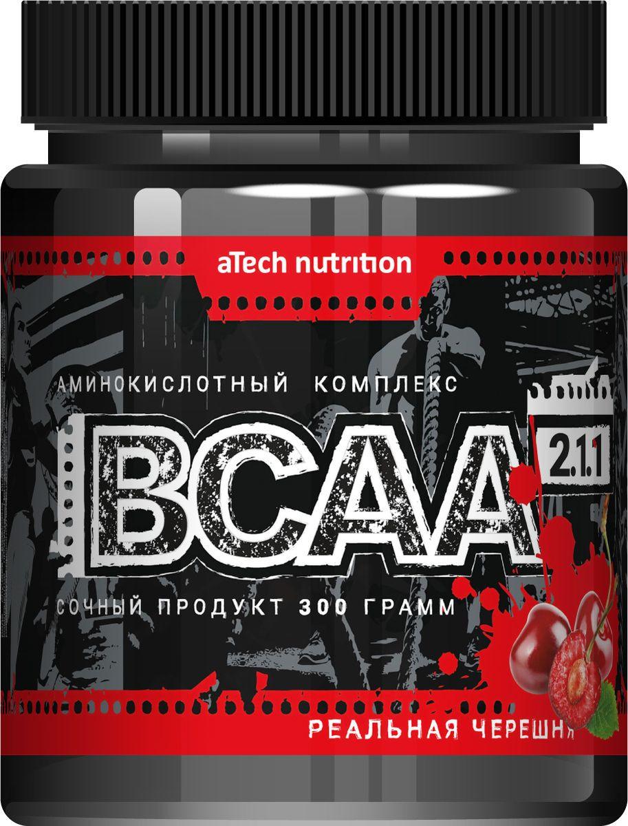 Комплекс аминокислотный aTech Nutrition BCAA 2:1:1, соковая основа, реальная черешня, 300 г