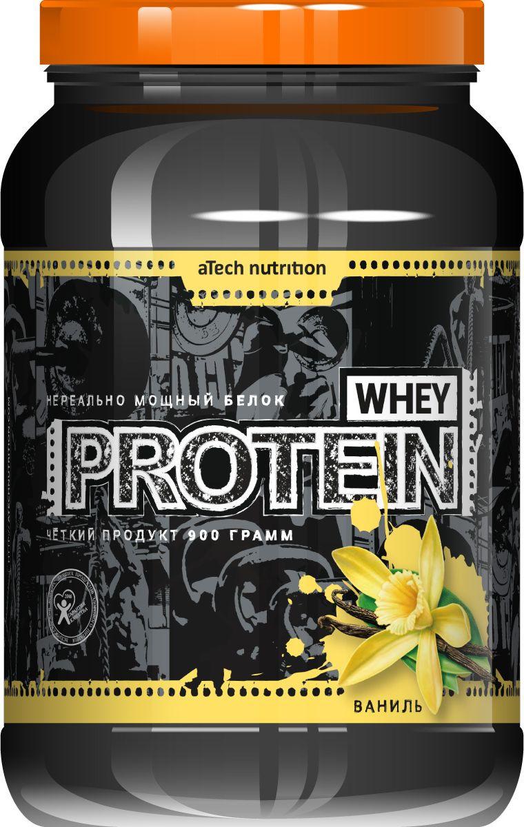 Протеин cывороточный aTech Nutrition Whey Protein 100%, мега ванилька, 900 г