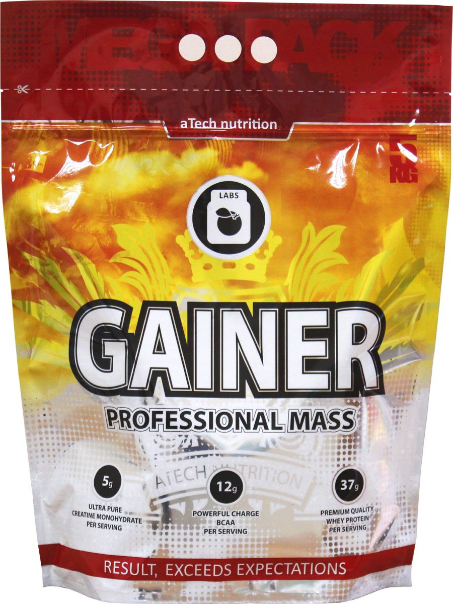 Гейнер aTech Nutrition Gainer Professional Mass, Nats cream, 5 кг цена
