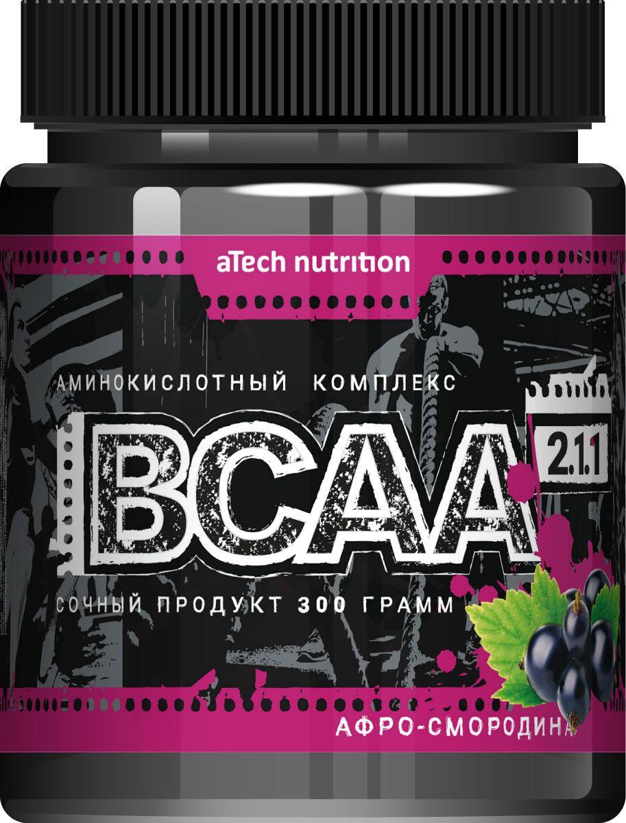 Комплекс аминокислотный aTech Nutrition BCAA 2:1:1, соковая основа, афросмородина, 300 г