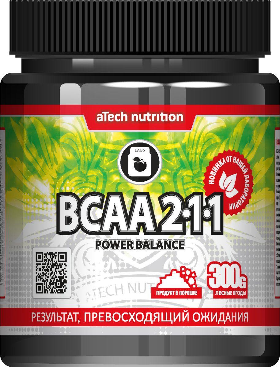 Комплекс аминокислотный aTech Nutrition BCAA 2:1:1 Power Balance, лесная ягода, 300 г