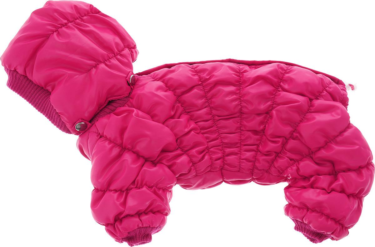 """Одежда для собак Kuzer-Moda """"Дутик"""", комбинезон зимний, KZ002492, розовый, размер S"""