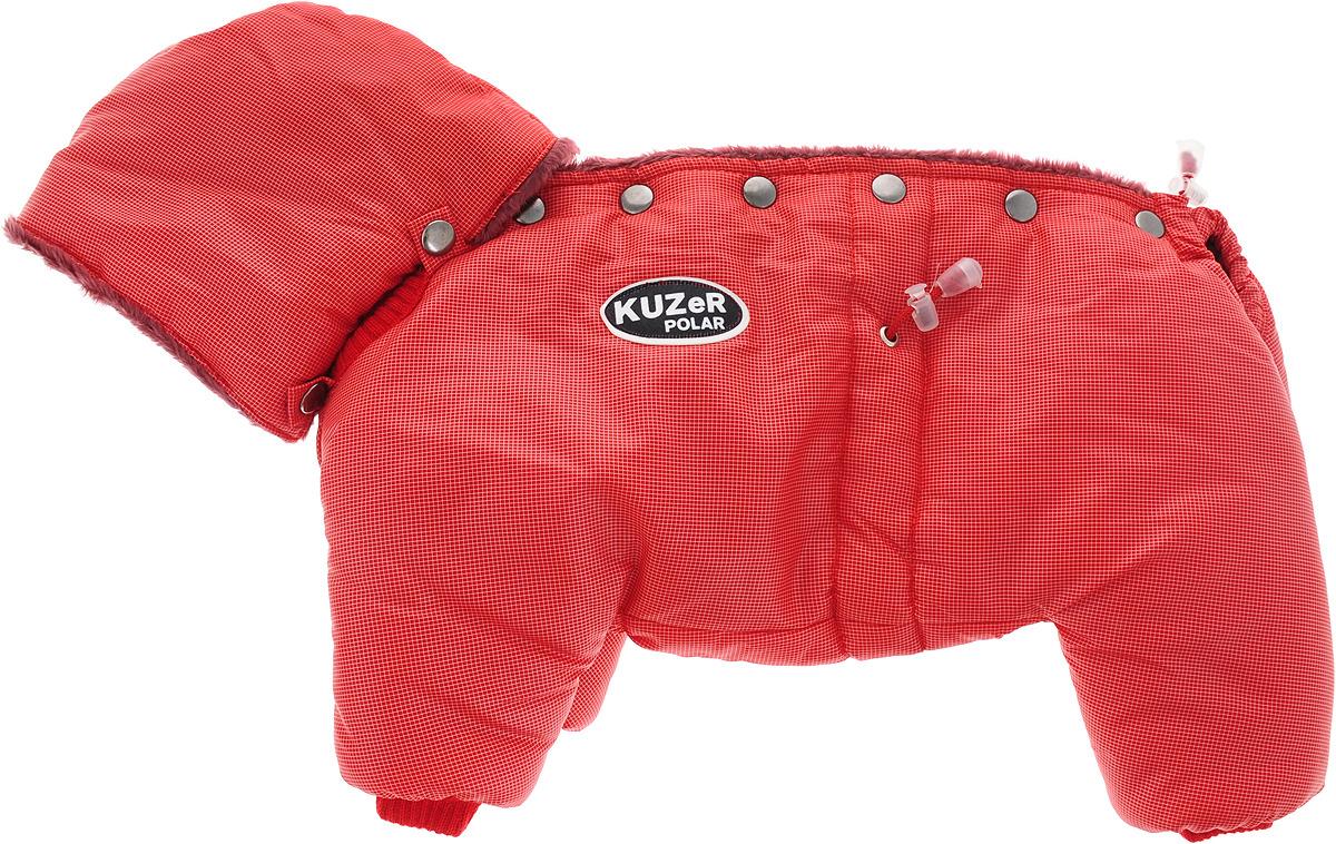 """Комбинезон для собак Kuzer-Moda """"Полярник"""", зимний, цвет: красный Размер S"""