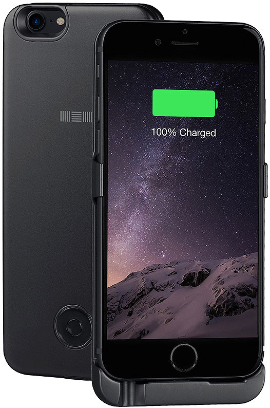 Чехол-аккумулятор Interstep для iPhone 8/7/6, Space Gray аккумулятор rocknparts zip для iphone 6 a 555624