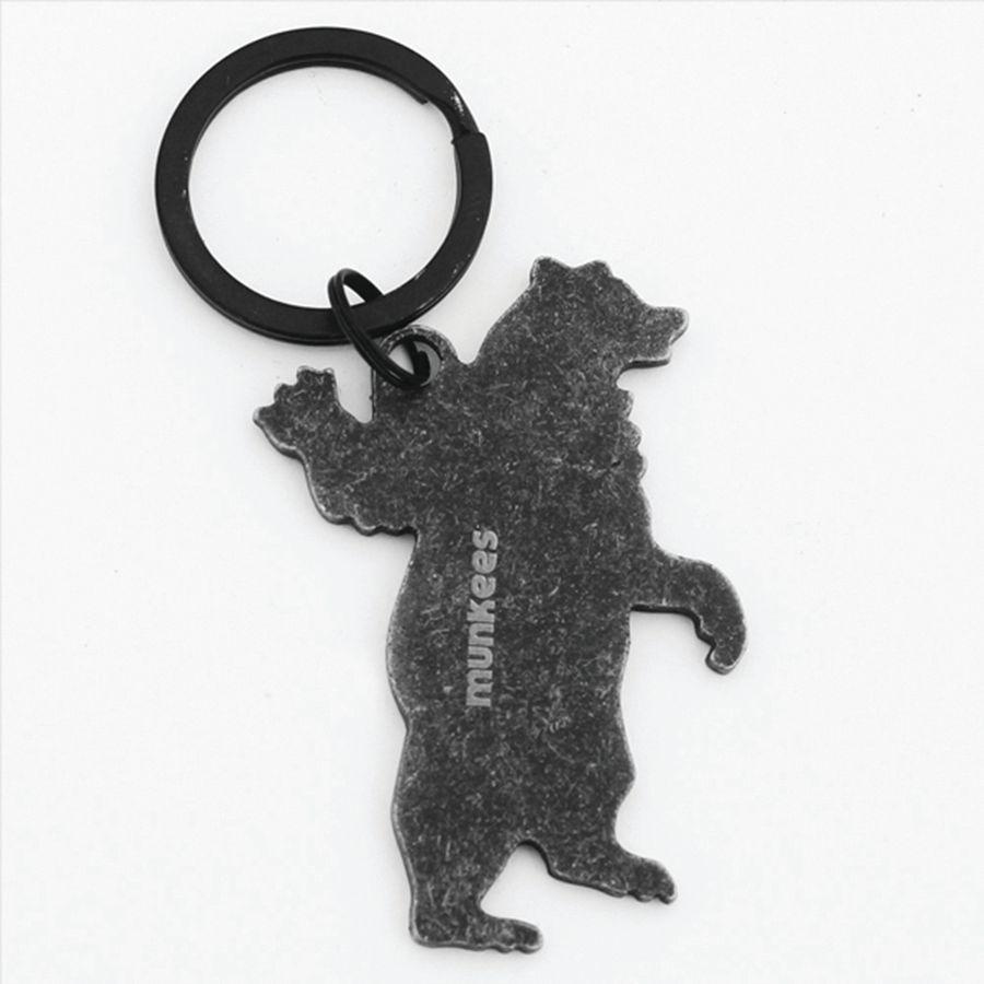 Брелок-открывалка Munkees Медведь, цвет: черный. 3536