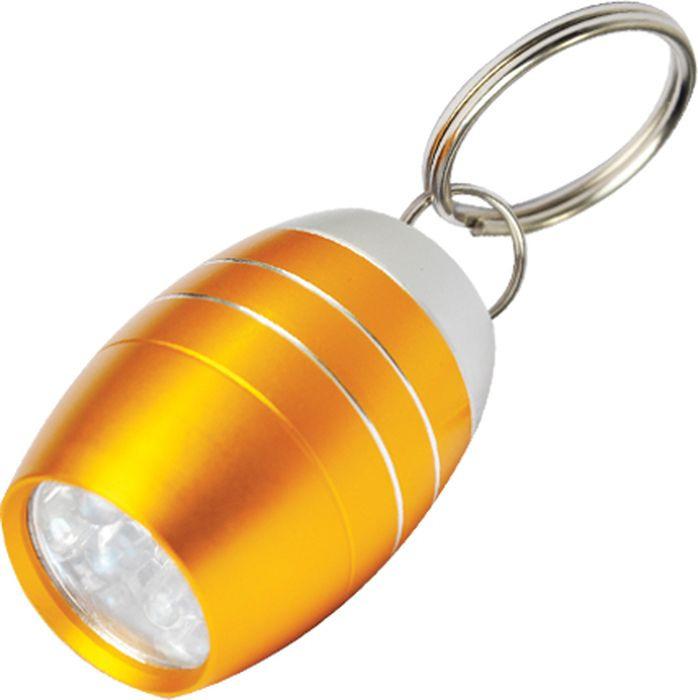 Брелок-фонарик Munkees Бочка, светодиодный, цвет: оранжевый