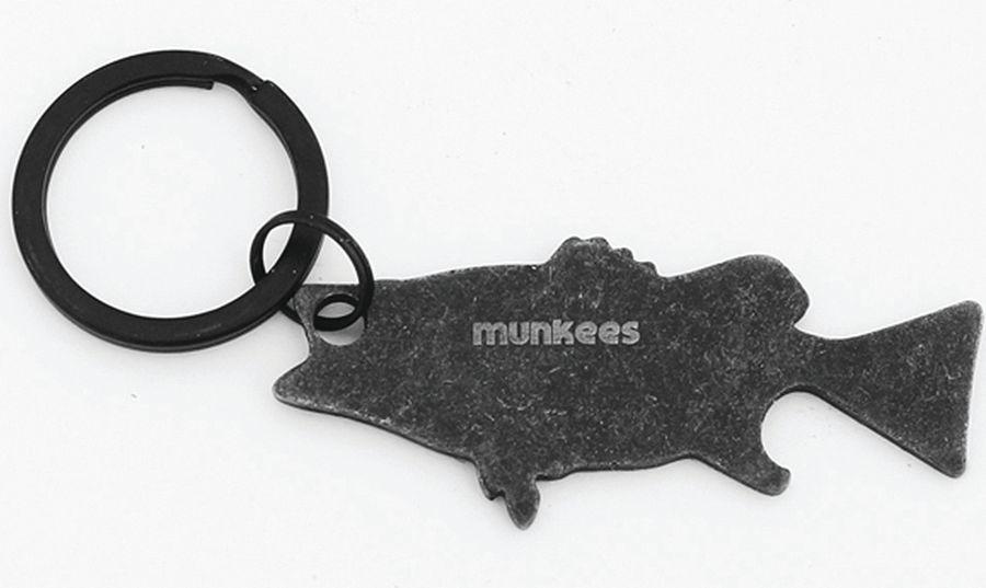 Брелок-открывалка Munkees Окунь, цвет: черный