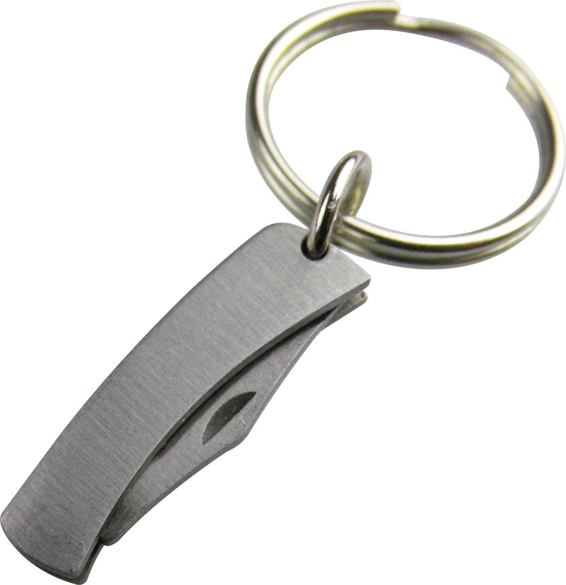 Брелок-нож Munkees Микро, цвет: серебристый2525Брелок Микро Нож.Невероятно миниатюрый складной нож-брелок с фиксатором и стальным кольцом для подвешивания связки ключей. Общая длина ножа в разложенном виде 42 мм. Но не стоит его недооценивать. Он действительно хорошо заточен.Нож полностью выполнен из нержавеющей стали. Что не позволит внешнему виду испортиться в жесткой среде с постоянным трением о другие металлические ключи. Главное - нож всегда под рукой, что бы ни случилось. Приведем некоторые ситуации, в которых именно это карманный нож может пригодиться любому человеку:1. Открытие коробки. Особенно части с скотчем2. Перерезание веревки, завязок, узлов, кабелей, проводов3. Заточка карандаша4. Открытие письма. Несомненно, можно использовать и палец, но использование ножа гораздо более удобно6. Проделывания дырки или отверстия, к примеру, в тяжелой коробке, что бы сделать себе удобные ручки, и т.д. MUNKEES® - FUN & FUNCTION*THE ORIGINAL** - Гарантия качества оригинальных MUNKEES!* Весело и функционально.** Оригинальный продукт.