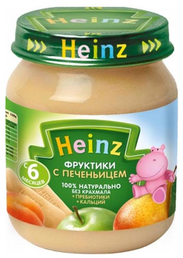 Пюре Heinz из фруктиков с печеньицем и пребиотиками, с 6 месяцев, 120 г