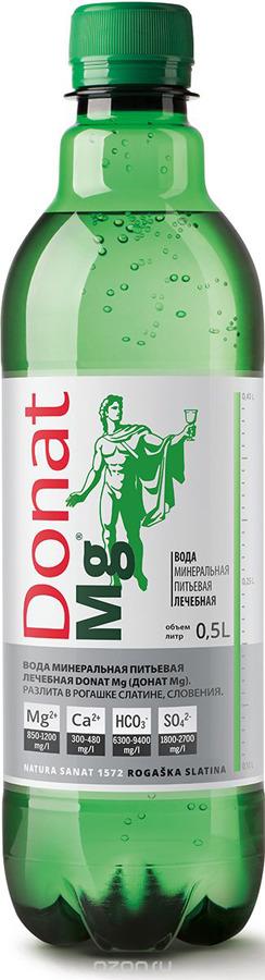 Вода минеральная природная питьевая лечебная Donat Mg, 0,5 л
