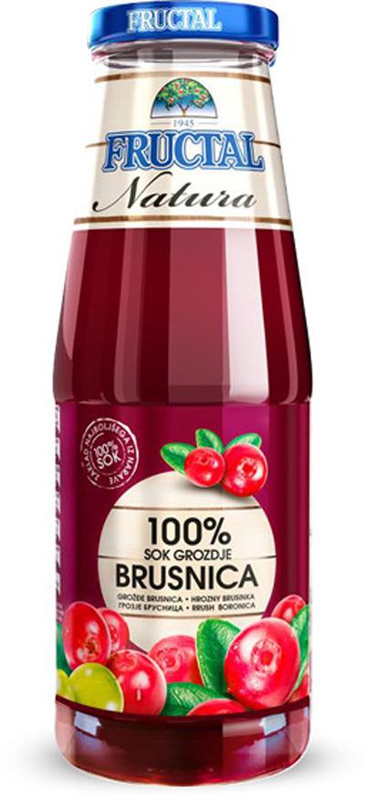 Сок виноградно-клюквенный Fructal, 0,7 л