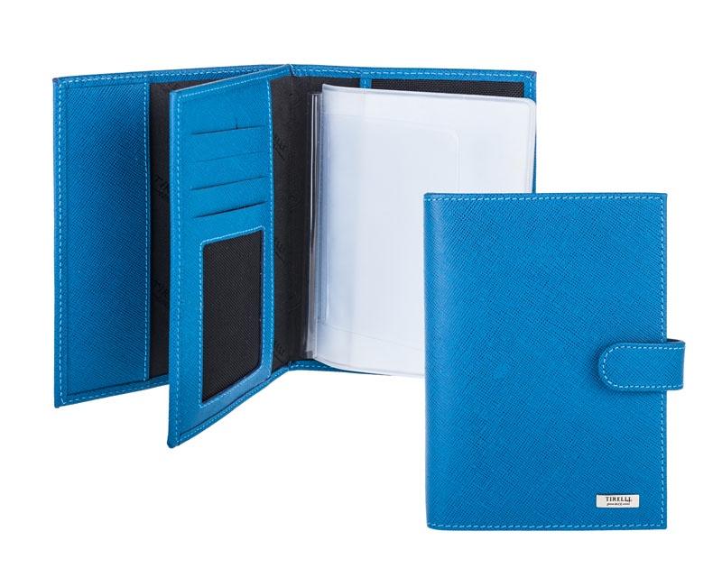 Бумажник водителя с отделением для паспорта Tirelli, цвет: голубой. 15-331-14-036-2 цены