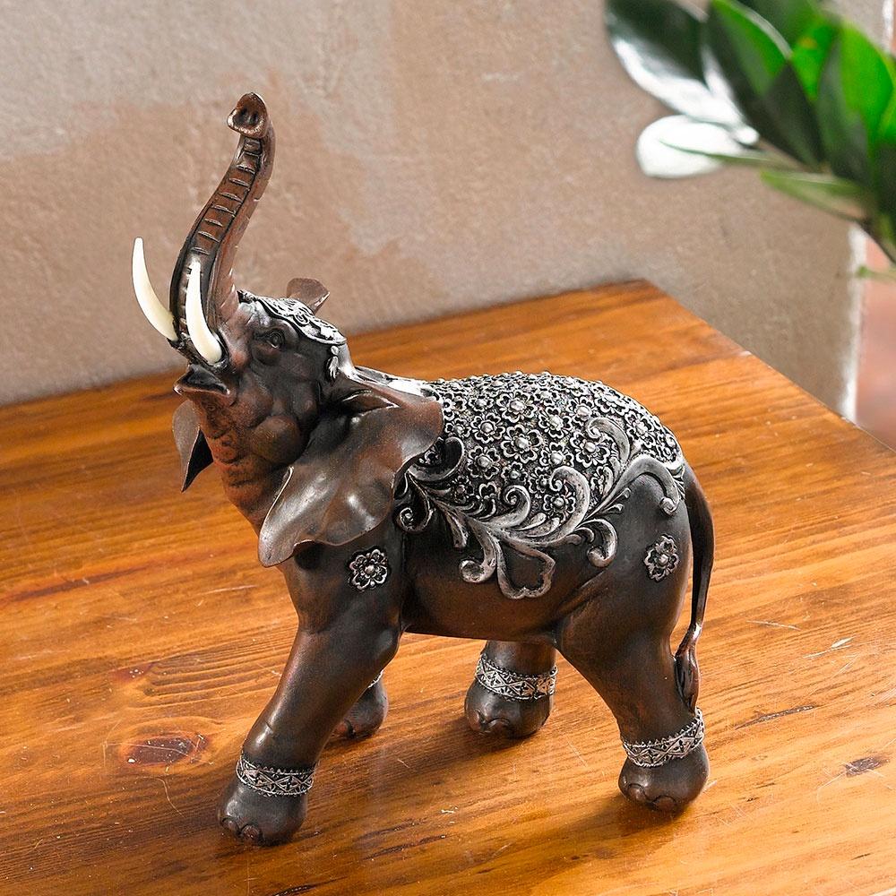 """Декоративная фигура Хит-декор """"Индийский слон"""", цвет: серебряный. 05490"""