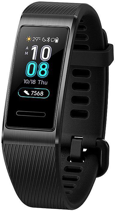 Фитнес-браслет Huawei Band 3 Pro, черный фитнес браслет huawei band 3 pro черный