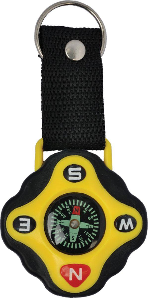 Брелок-компас Munkees, с темляком, цвет: желтый набор брелок компас портмоне mr forsage набор брелок компас портмоне
