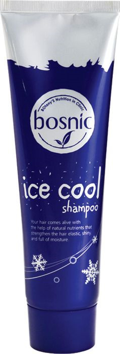 Шампунь для волос Bosnic Ice Cool, освежающий, с ароматическим маслом перечной мяты, 160 мл
