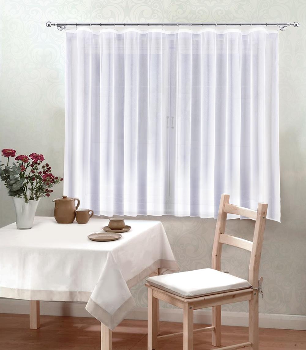 Тюль Камея Моно кухонный, 300*180 см, цвет: белый тюль камея тюль моно т106кремовый