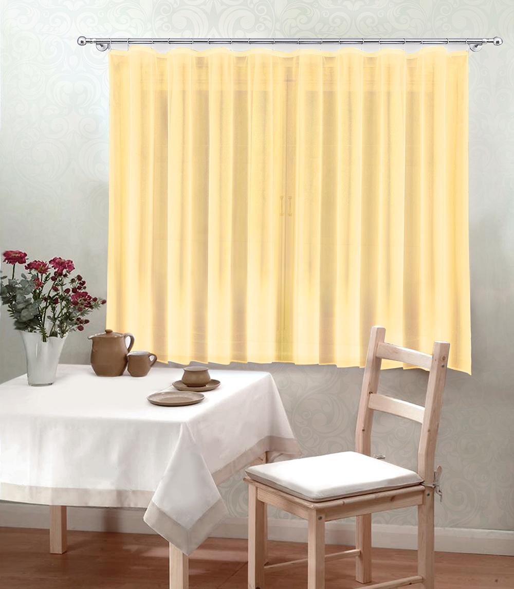 Тюль Камея Моно кухонный, 300*180 см, цвет: желтый тюль камея тюль моно т106кремовый