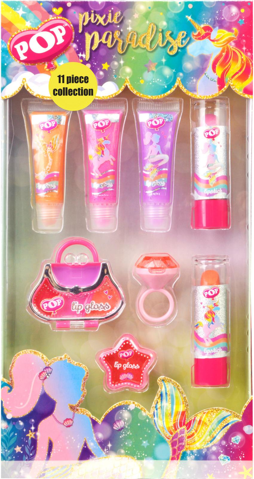 Игровой набор детской декоративной косметики Markwins POP, для губ. 3800251 игровой набор shantou chenghai мелок для волос блеск для губ резиночки 6 шт