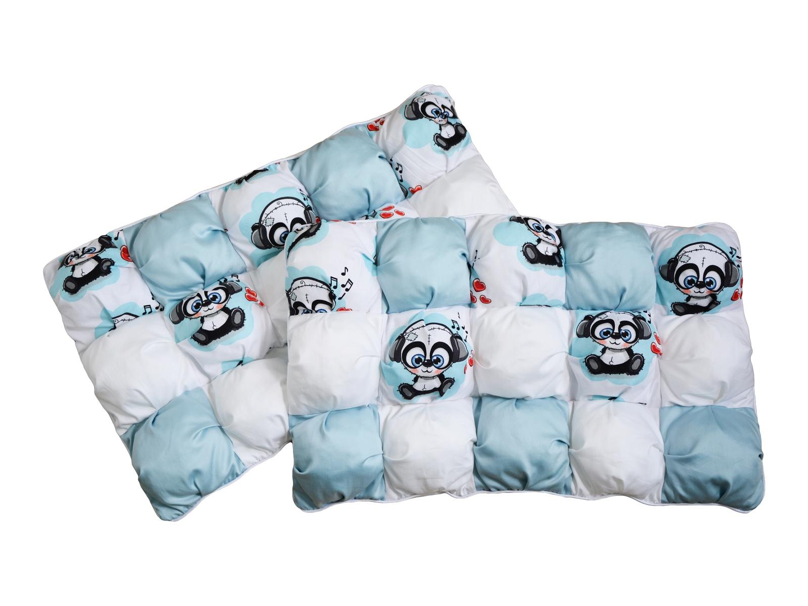 Комплект в кроватку Dream Royal Бомбон-бортик, голубой