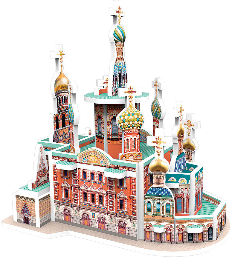3D Пазл IQ 3D Puzzle Спас на Крови, СПб iq 3d puzzle 3d пазл сиднейский оперный театр