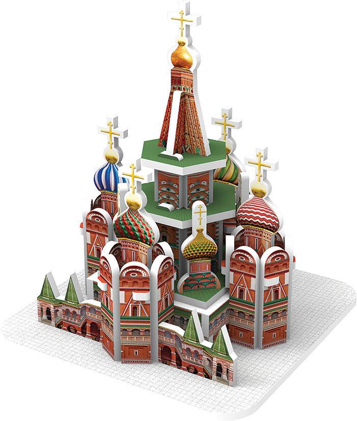 3D Пазл IQ 3D Puzzle Собор Василия Блаженного, Москва арт терапия 3d пазл для раскрашивания собор василия блаженного арт 03067