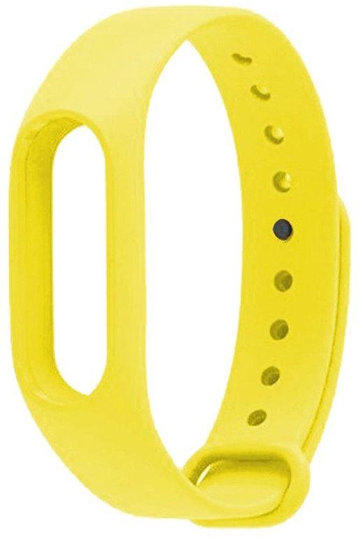 Ремешок силиконовый для фитнес трекера Xiaomi Mi Band 2 желтый фитнес трекер xiaomi mi band 2