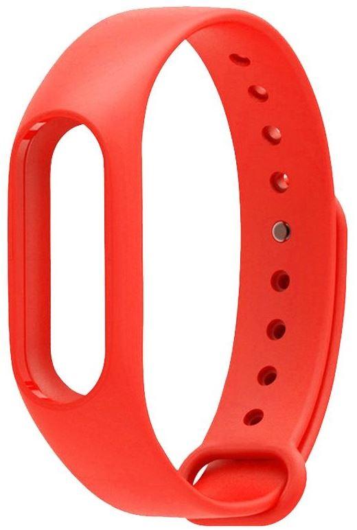 Ремешок силиконовый для фитнес трекера Xiaomi Mi Band 2 красный фитнес трекер xiaomi mi band 2