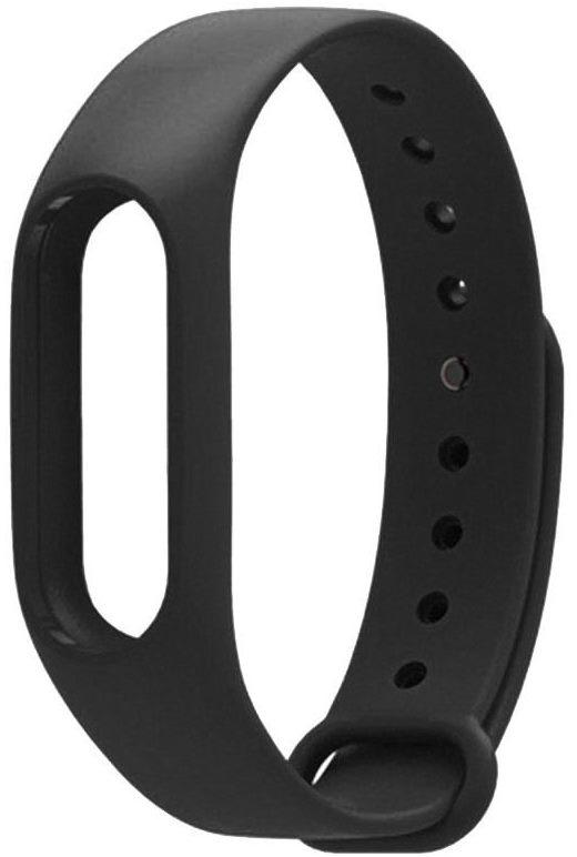 Ремешок для смарт-часов Mi Band 2 силиконовый черный ремешок для смарт часов sadko xiaomi mi band 2 7 4605181034460