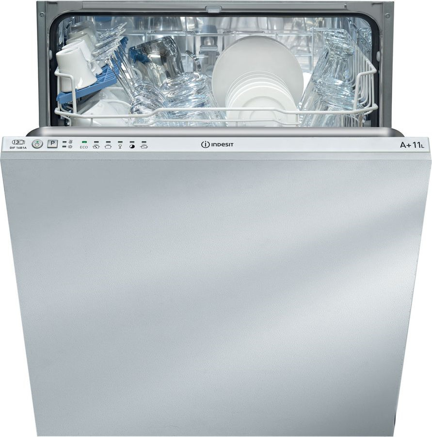 Посудомоечная машина Indesit DIF16B1AEU, 90000005441, встраиваемая, белый цена и фото