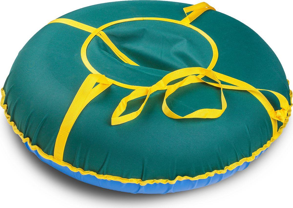 Санки надувные Иглу Сноу, цвет: зеленый, диаметр 90 см цена