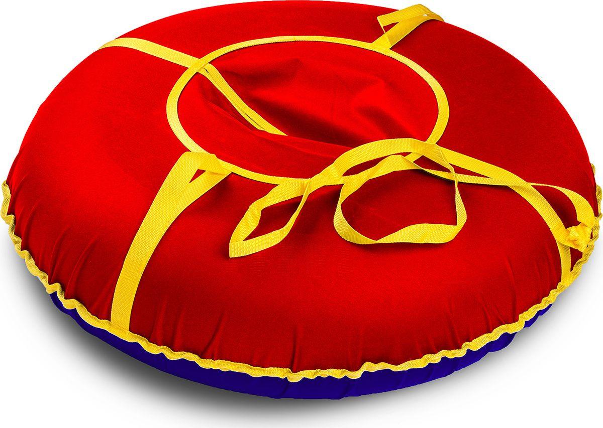 Санки надувные Иглу Сноу, цвет: красный, диаметр 90 см цена