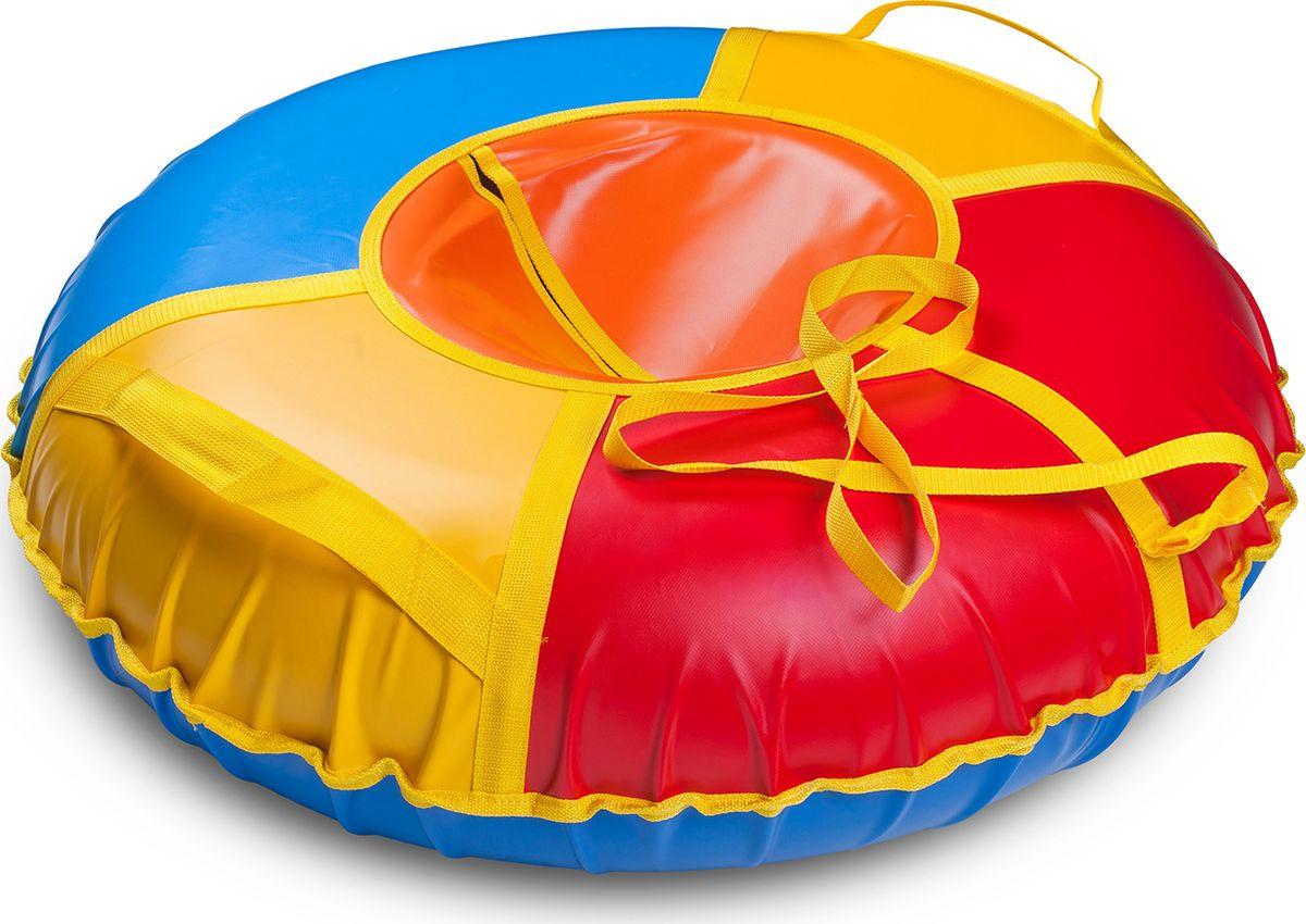 Санки надувные Иглу Сноу, цвет: мультиколор, диаметр 60 см цена