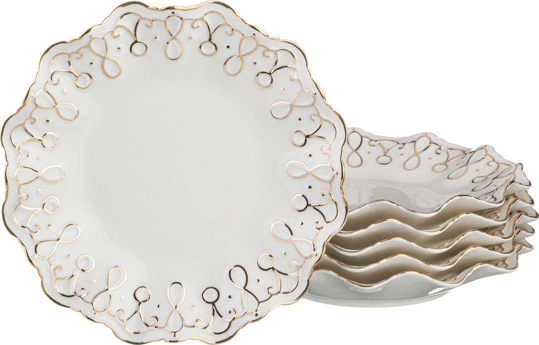 Набор тарелок Lefard Лаура, диаметр 19 см, 6 шт. RL10519N-2-G цена
