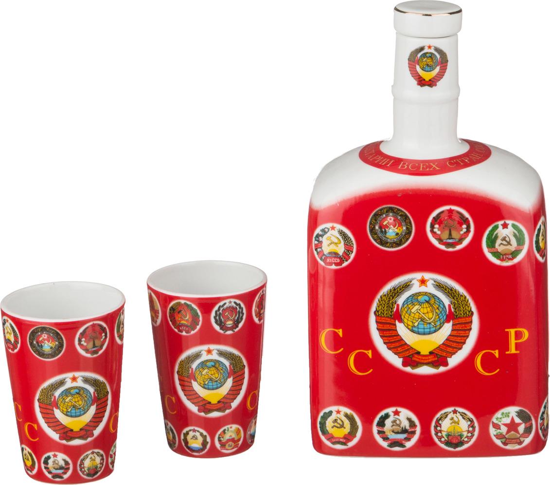 Набор подарочный Lefard СССР: штоф + 2 рюмки, 3 предмета. TS7208 опустошитель 22 хронос