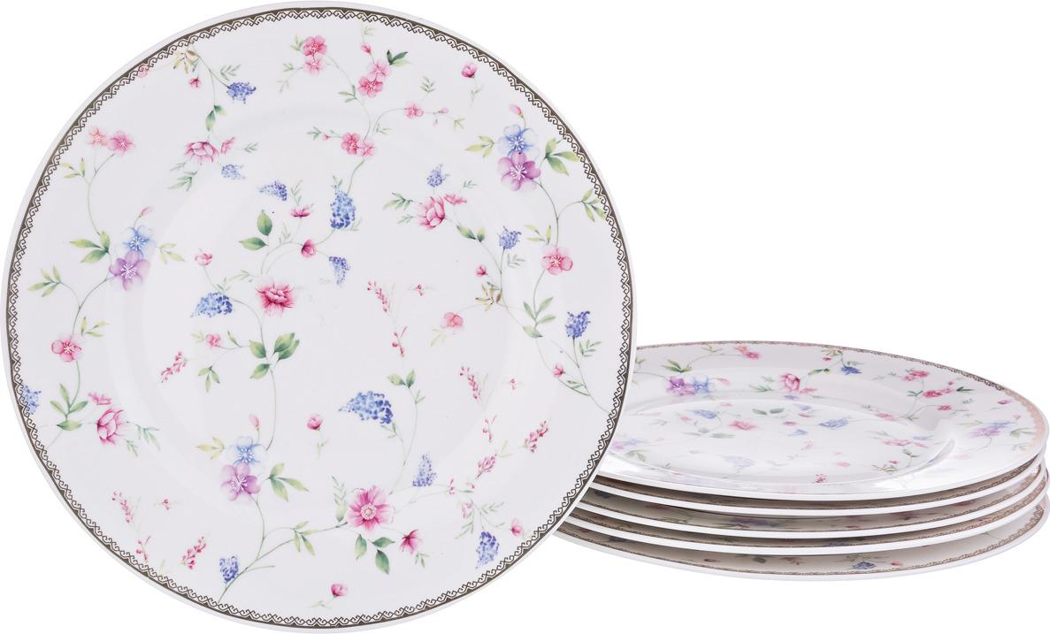 Набор подстановочных тарелок Lefard, диаметр 25 см, 6 шт. 274854 набор суповых тарелок certified international винтаж новогодний диаметр 22 см 4 шт