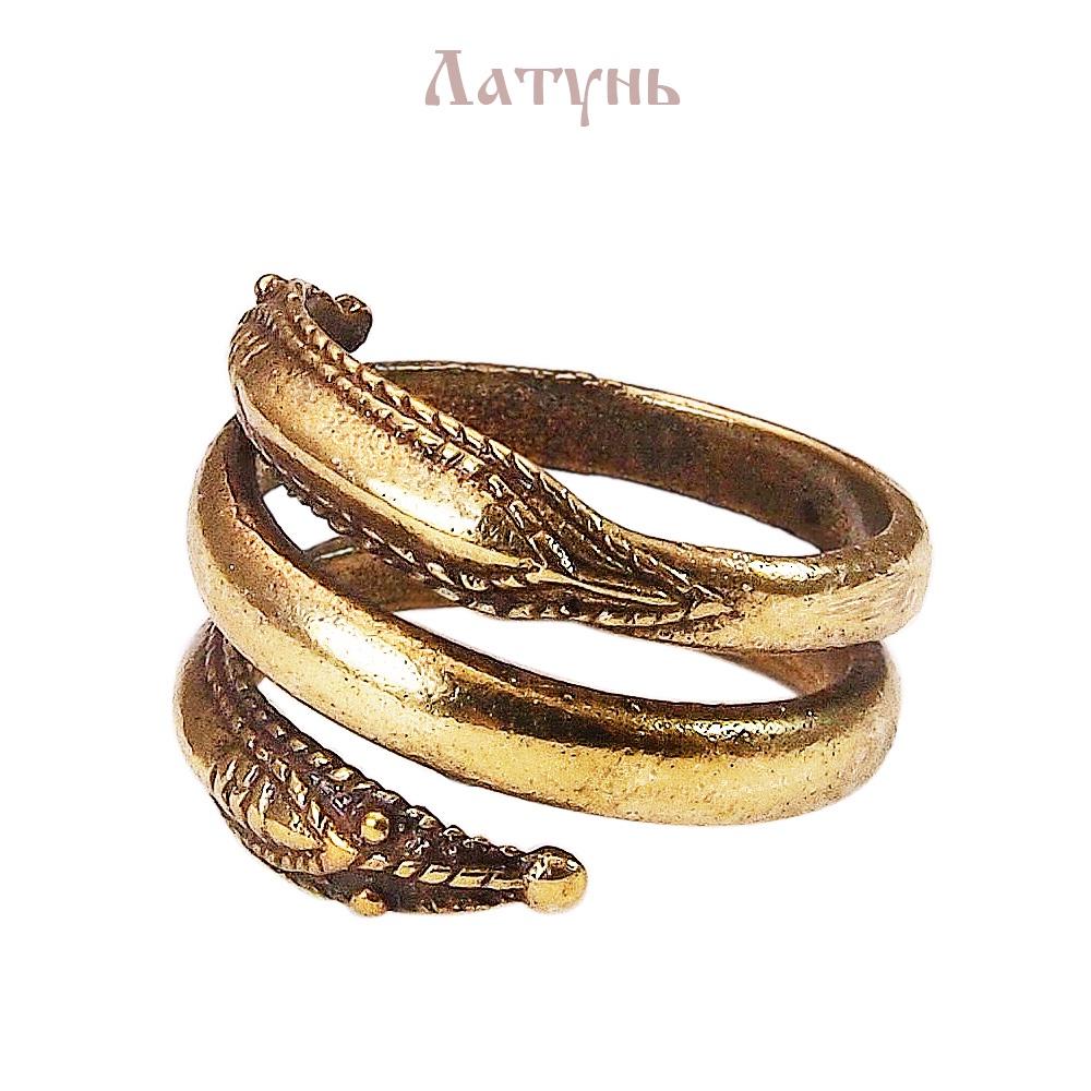 Усатое кольцо «Мировой Змей» Мастерская Алёшиных L15-013