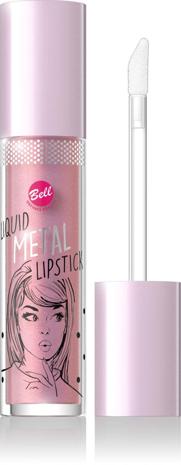 Помада жидкая с эффектом металлик Bell Liquid Metal Lipstick, тон №01 помада жидкая с эффектом металлик bell liquid metal lipstick тон 03