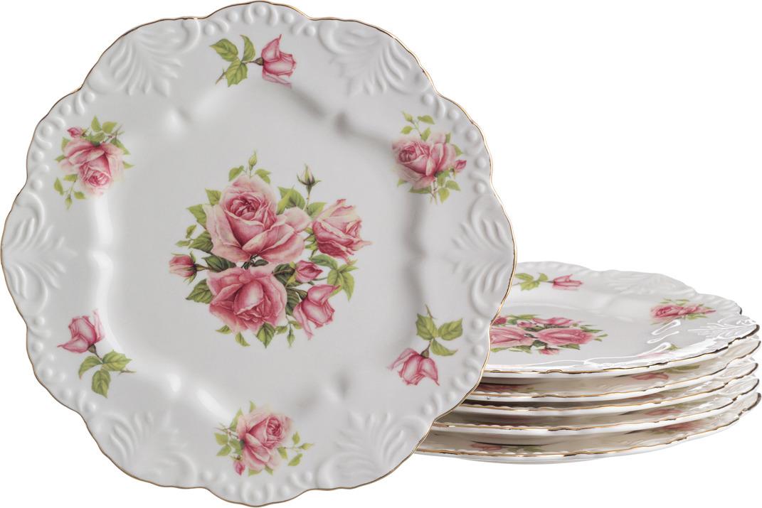 Набор тарелок Lefard Жаклин, диаметр 24 см, 6 шт. GW08017-33F77 цена