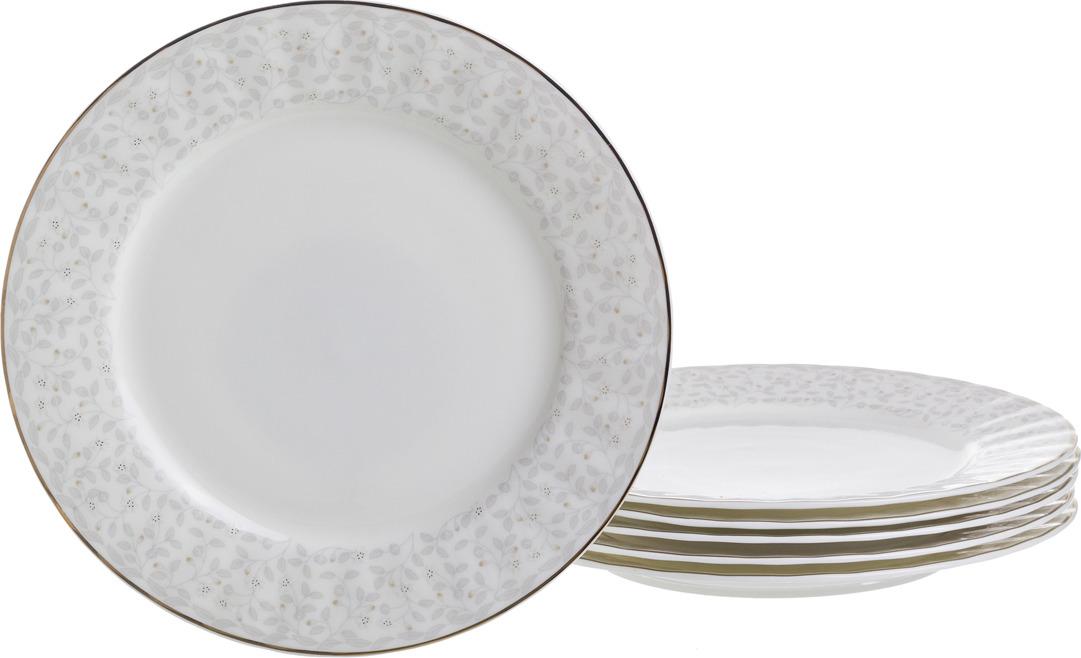 Набор тарелок Lefard Вивьен, диаметр 19,5 см, 6 шт. HY0174M080-6/8.25 светодиодная гирлянда сакура розовая 700см 07933 uniel uld s0700 050 dta pink ip20 pink sakura
