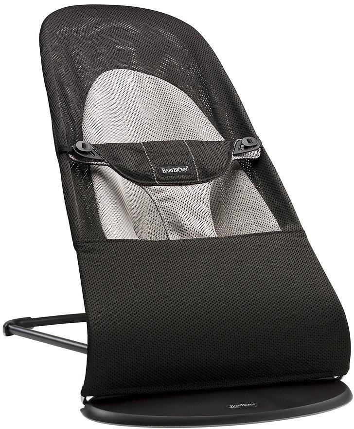 цена на Кресло-шезлонг BabyBjorn Balance Soft Air, цвет: черный