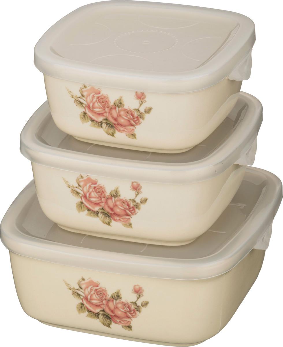 Набор блюд для заливного Lefard Корейская роза, 3 шт. 388209 набор сундучков roura decoracion 3 шт 34783
