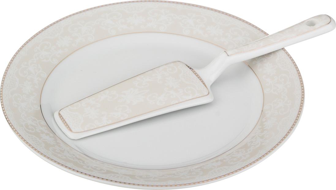 Блюдо для торта Lefard, с лопаткой, диаметр 23 см. 389273 блюда lefard блюдо для торта с лопаткой 23см