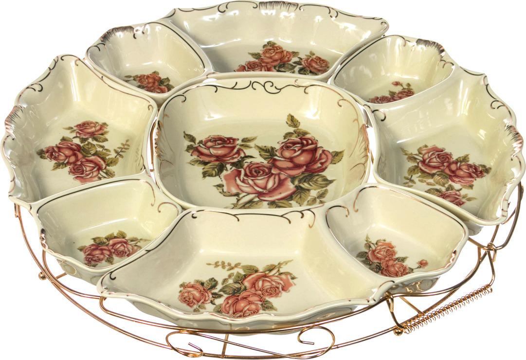 Менажница Lefard Корейская роза, диаметр 40 см. 388099 розетка lefard корейская роза 11см фарфор