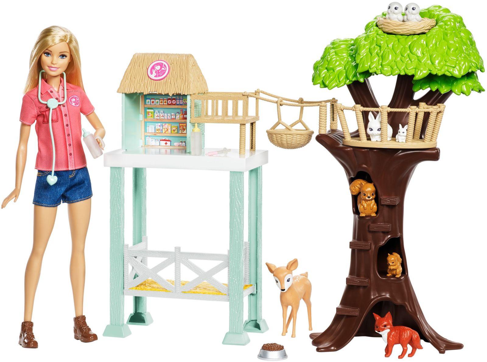 Barbie Игровой набор с куклой Спасатель животных приют для животных на югле