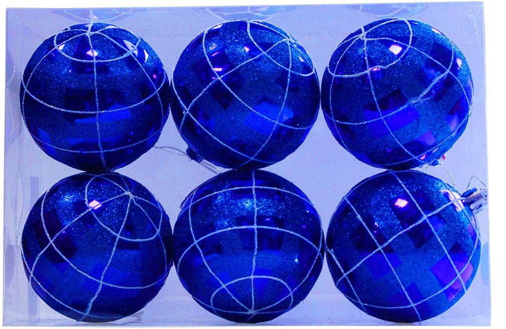 Фото - Набор елочных шаров Магия праздника, диаметр 8 см, 6 шт. NY031 набор елочных шаров магия праздника ny032 красно белый диаметр 6 см 12 шт
