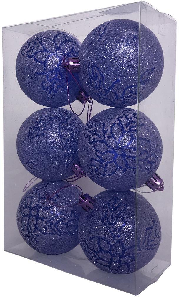 Набор елочных шаров Магия праздника, NY034, диаметр 7 см, 6 шт набор елочных игрушек русские подарки веселый новый год 9 шт 71435