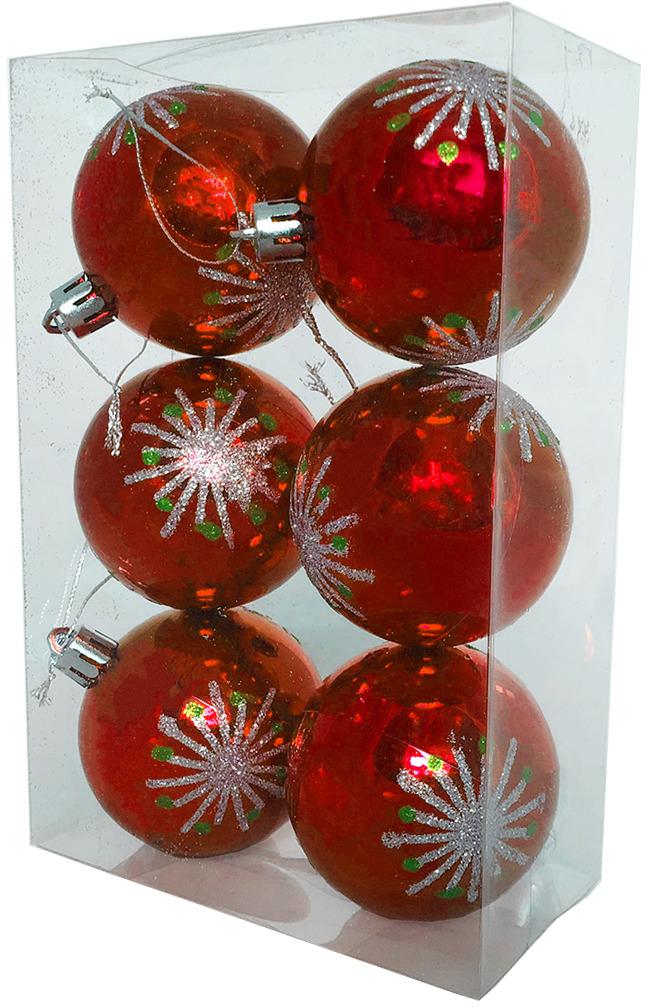Набор елочных шаров Магия праздника, диаметр 6 см, 6 шт. NY037 набор елочных шаров магия праздника диаметр 8 см 6 шт ny036