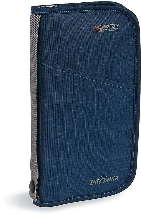 Кошелек Tatonka Travel Zip L Rfid, цвет: синий сумка для фотокамеры tatonka protection pouch l