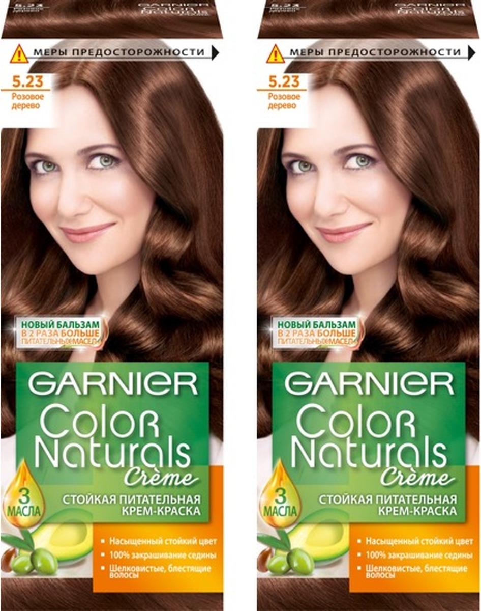 """Стойкая крем-краска для волос Garnier """"Color Naturals"""", оттенок 5.23, Розовое дерево, 2 шт"""